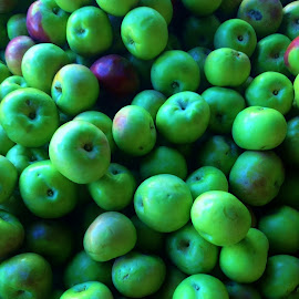 Apples at the market by Karen Coston - Instagram & Mobile iPhone ( food and drink, green, apples, harvest, iphone )