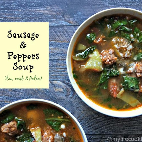 Sausage & Peppers Soup (Low Carb & Paleo)