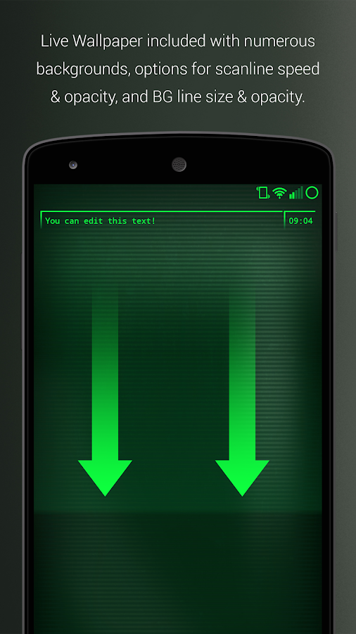 PipTec Pro - Green Icons & Live Wallpaper Screenshot 1
