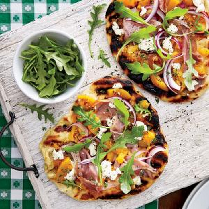 Grilled Peach Chutney Pizza with Prosciutto and Goat Cheese Recipe ...