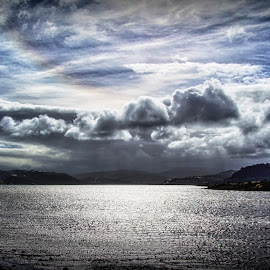 Mixed-up Weather by Stewart Baird - Landscapes Cloud Formations ( clouds, nature, porirua, landscape, new zealand )