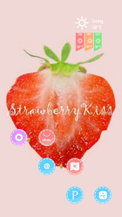 Lovely red strawberry theme - screenshot