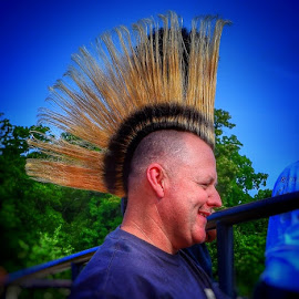 Mohawk Mania by Mark Ayers-Stebenne - People Portraits of Men ( male, hairstyle, mohawk, courageous, portrait,  )