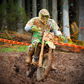 Clear Run by Marco Bertamé - Sports & Fitness Motorsports ( mud, rainy, motocross, solitaire, clumps, clear run, alone, race, accelerating, competition )