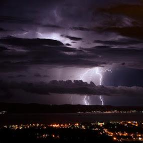 by Nediljko Prološčić - Landscapes Weather ( night, landscape, storm )