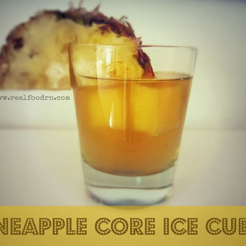 Pineapple Core Ice Cubes