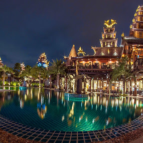 Ammata Lanta Resort by Waraphorn Aphai - Buildings & Architecture Office Buildings & Hotels ( #ammatalantaresort #balistyledrco #hotel&resort #reflection #nightscape #architecture )