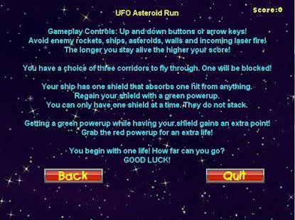 UFO-Asteroid-Run 3