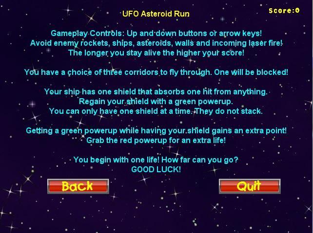 UFO-Asteroid-Run 13