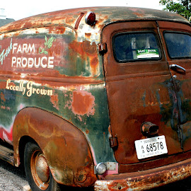 Rusy old produce truck by Julia Pegler - Transportation Automobiles ( car, old, automobile, rusty, antique )