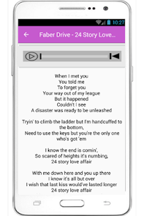 Faber Drive Tongue Tied Lyrics - screenshot