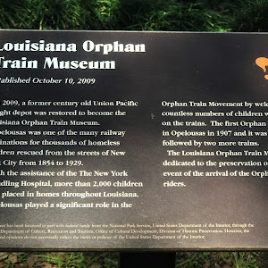 In 2009, a former century old Union Pacific freight depot was restored to become the Louisiana Orphan Train Museum. Opelousas was one of the many railway destinations for thousands of homeless ...