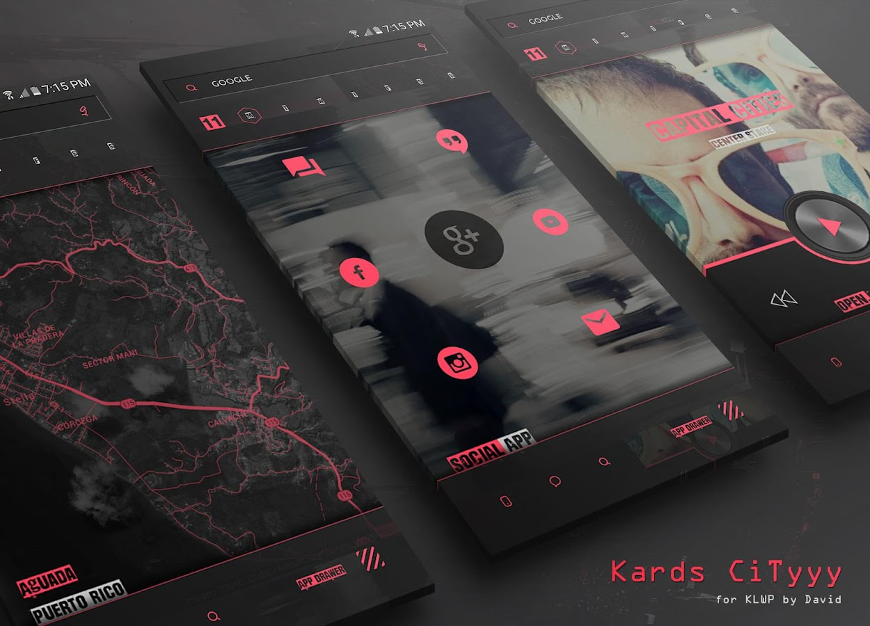 Kards CiTyyy for KLWP Screenshot 3