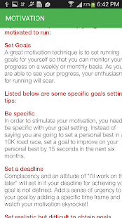 Marathon Running Tips - screenshot