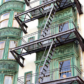 FIRE ESCAPES by Jody Frankel - Buildings & Architecture Architectural Detail