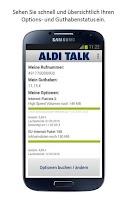 Screenshot of ALDI TALK