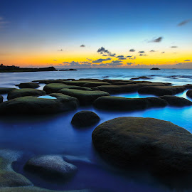 Blue Hour at Tindakon Dazang by Lawrence Chung - Landscapes Sunsets & Sunrises