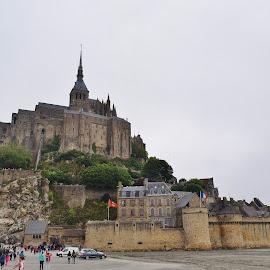 Mont Saint-Michel by Lynnie Keathley - Buildings & Architecture Public & Historical