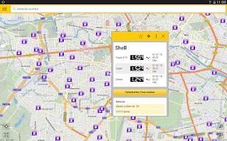 Screenshot of ADAC Spritpreise