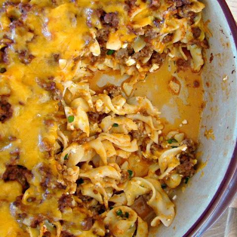 Tangy Beef and Noodle Casserole