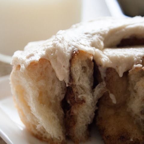 The Most Amazing Cinnamon Rolls with Brown Sugar Cream Cheese Frosting