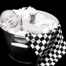 Winning by Todd Wallarab - Babies & Children Babies ( checkerd, tired, win, baby, sleep, race )