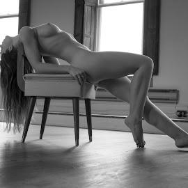 by Joe Pix - Nudes & Boudoir Artistic Nude ( natural light, nude, female, naked, window light, woman, dramatic )