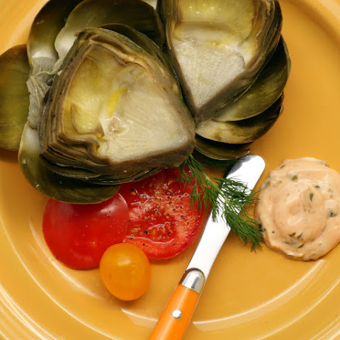 Grilled Sous Vide Artichokes with Lemon and Butter