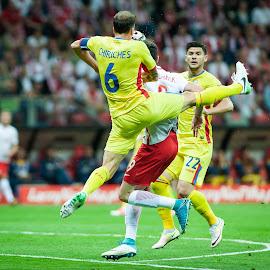 Poland vs. Romania by Paweł Mielko - Sports & Fitness Soccer/Association football ( nikon, soccer, sports, poland, reporter, romania, football, sport photography, sport, polish national team )