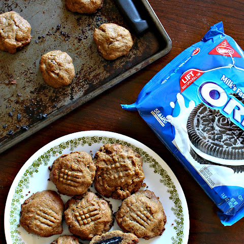 Oreo-Stuffed Peanut Butter Cookies