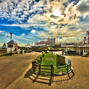 Broadstairs, Kent, UK by Mick Heywood - City,  Street & Park  Street Scenes ( clouds, broadstairs, sunshine, town, beach )