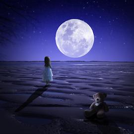 Moon by Pak Polisi - Digital Art Abstract ( moon, photo manipulation, edit )