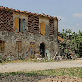Abandoned Dwelling by Carol Lauderdale - Buildings & Architecture Decaying & Abandoned ( restoration project, ruins, tuscany, architecture, abandoned dwelling )