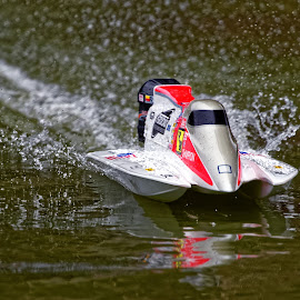 Super Speed by Raphael RaCcoon - Artistic Objects Toys ( model, toy, speed, lake, boat )
