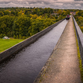 Pontcysyllte Aqueduct by Krasimir Lazarov - Buildings & Architecture Bridges & Suspended Structures ( aqueduct, dee, wales, architecture, canal, united kingdom, river )