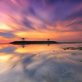 Twins by Krishna Mahaputra - Landscapes Travel ( canon, sunrise, seascape, beach, landscape, motion, photography )