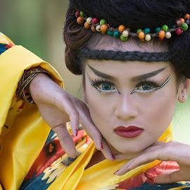 geisha by Bramantya Wardana - People Portraits of Women