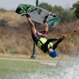 Waterskiing by Yuval Shlomo - Sports & Fitness Surfing