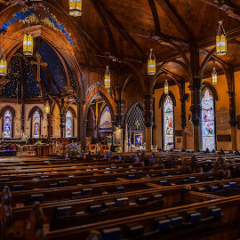 Anglican church, Lunemburg, N.S. by Mario Guay - Buildings & Architecture Places of Worship