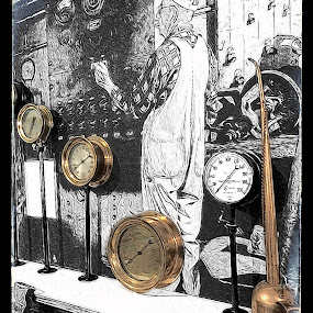 by Pam Blackstone - Digital Art Places ( steam boat, paddlewheeler, dials )