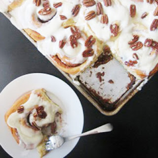 Tyler's Vanilla Pudding Cinnamon Rolls with Cream Cheese Frosting