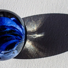 Blue Marble by Pierre Tessier - Artistic Objects Glass ( marble fun,  )