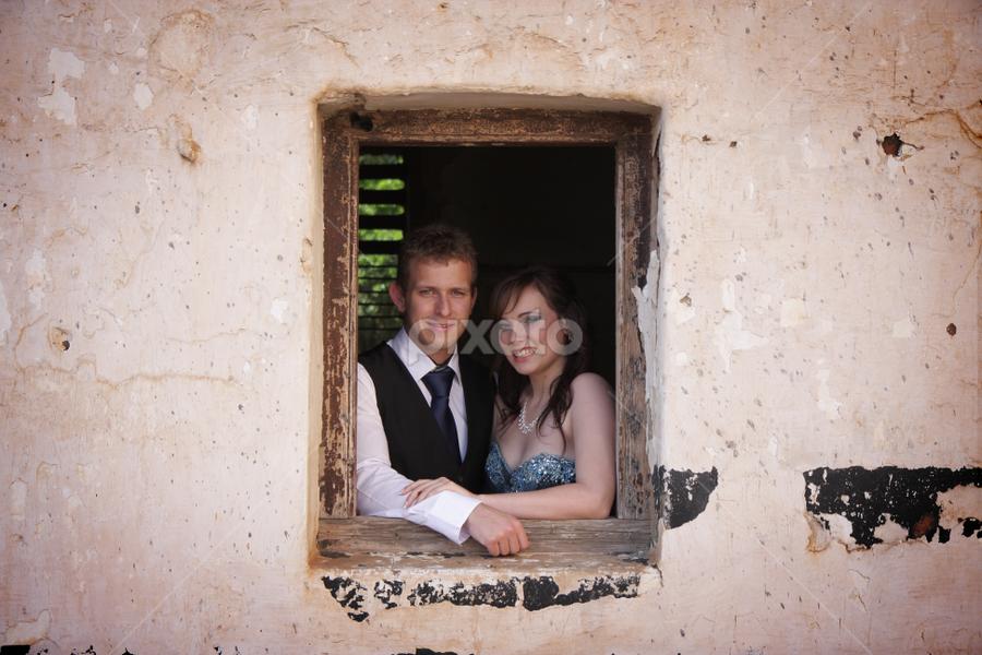 by Johan Niemand - People Couples ( window, woman, couple, man, portrait )