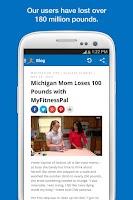 Screenshot of Calorie Counter - MyFitnessPal