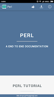 Perl Documentation-Learn Perl - screenshot