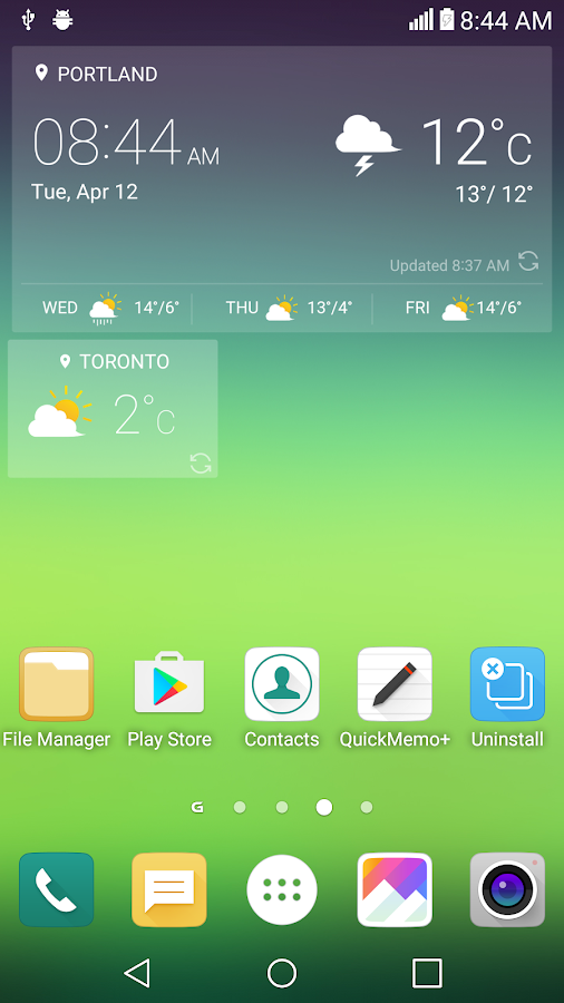 UX 5.0 G5 for Zooper Widget Screenshot 4