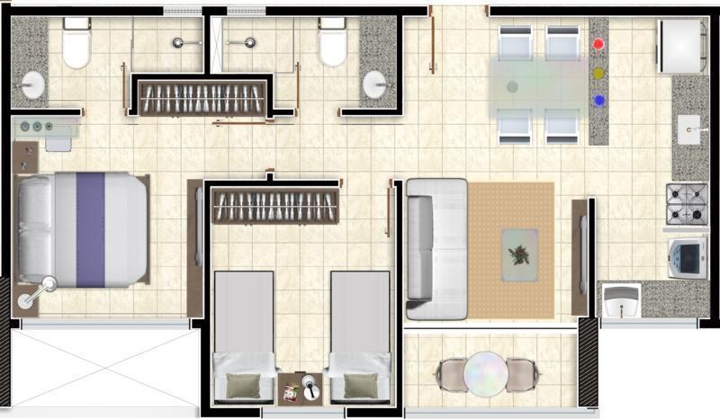 Apartamento residencial à venda, Aeroclube, João Pessoa.