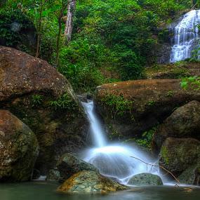 Naulas Waterfall by Firmansyah Goma - Landscapes Waterscapes ( sulawesi utara, visit bolmut, waterfall, bolaang mongondow utara, naulas,  )