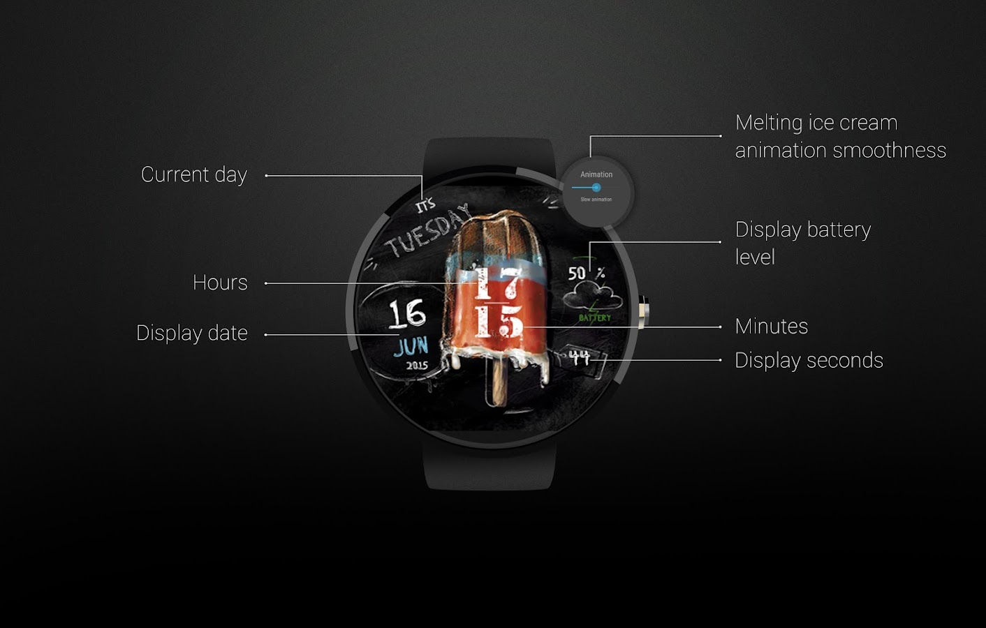 Watch Face: IceCream Screenshot 4