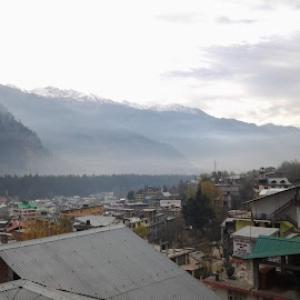 Manali From My Hotel Room by Vasim Bardoliwala - Landscapes Weather ( clouds, mountains, winter, ice, landscape, natural, rain,  )